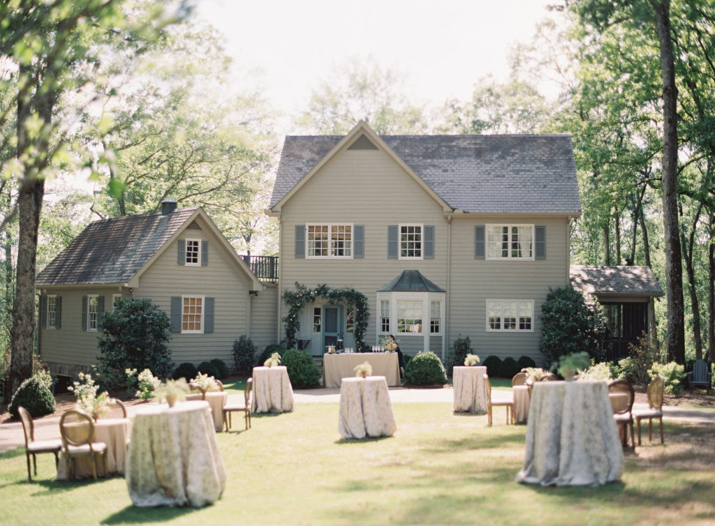 outdoor southern intimate wedding