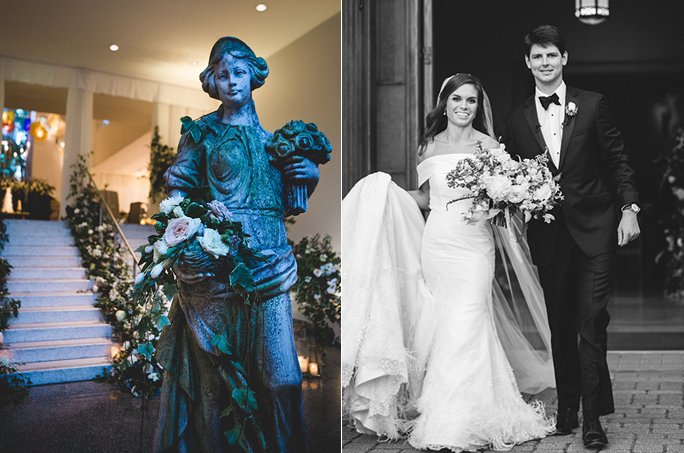 Christopher Confero designs garden wedding at Birmingham Museum of Art