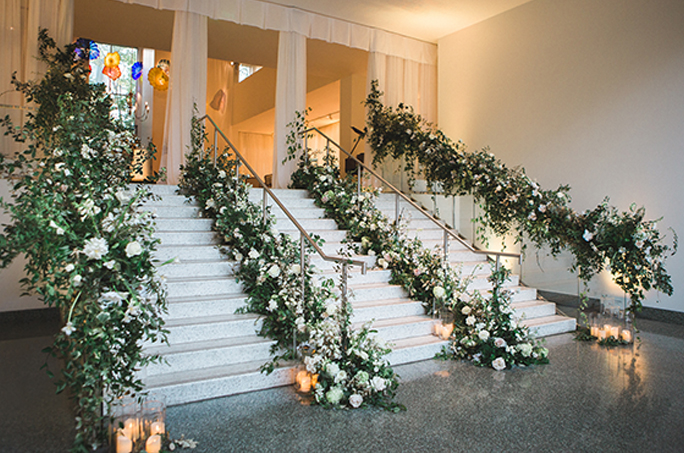 Christopher Confero designs French Garden Wedding at Birmingham Museum of Art